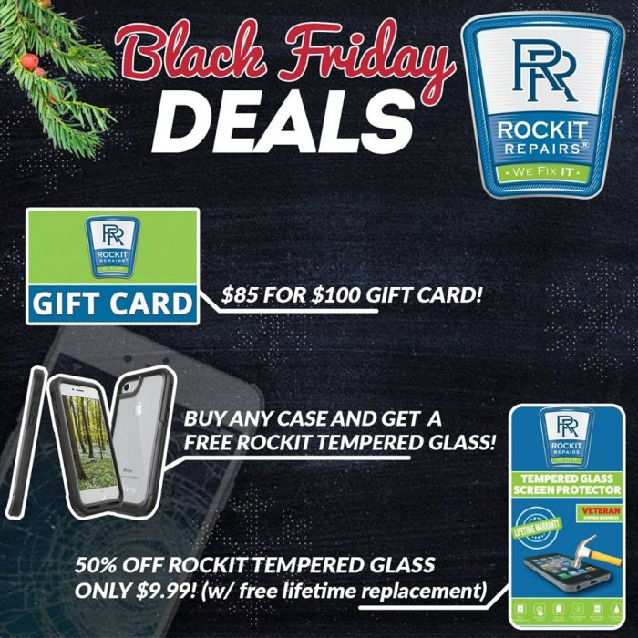 black friday deals 2017 at rockit repairs cellphoen repair shop in fredericksburg virginia and stafford virginia