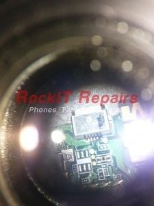 kindle fire charging port viewed under a microscope