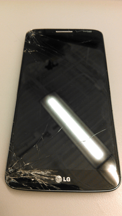 lg g2 cracked screen