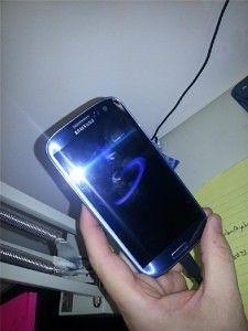 Blue Samsung Galaxy S4