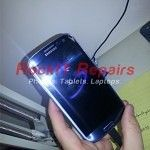 Samsung Galaxy S3 Pebble Blue Front Glass Only